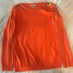 Liz Claiborne orange sweater